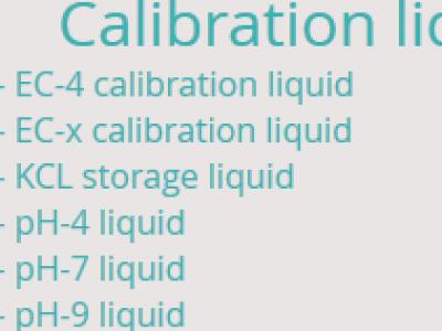 Calibration liquids