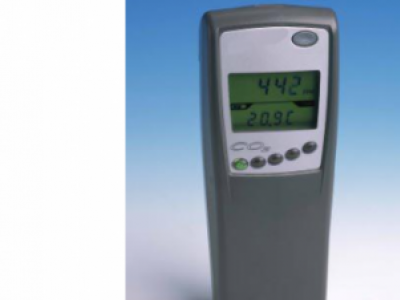 CO2/Temperature Meter.