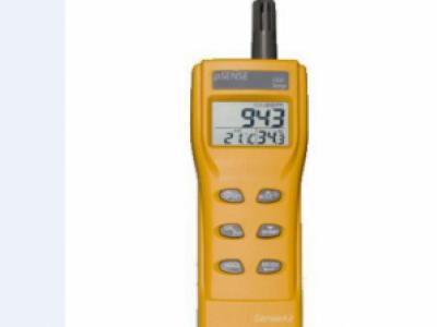 CO2/Temperature Meter.